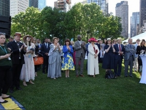 Minister Madigan hosts first celebration of Bloomsday at UN Headquarters in New York