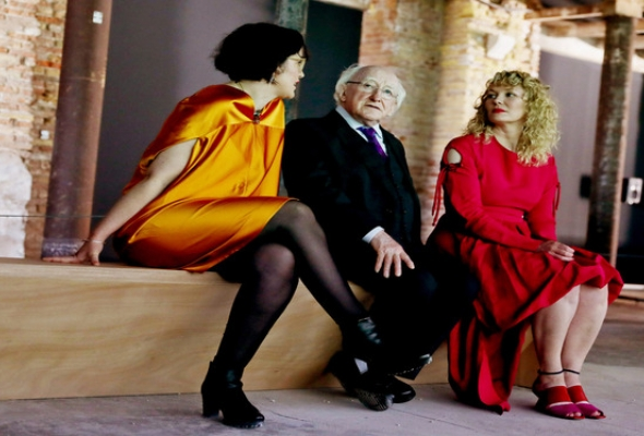 President Higgins visits the 57th Venice Art Biennale
