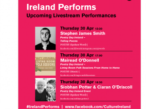 Culture Ireland Celebrates Poetry Day Thursday 30 April