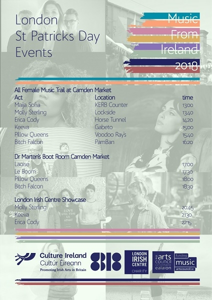 Music from Ireland All-Female London Music Trail & Showcases