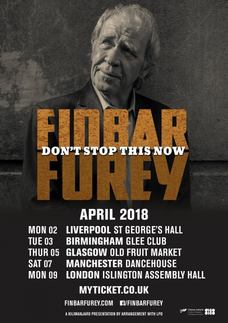 Finbar Furey 'Don't Stop This Now' Tour Finbar Furey 'Don't Stop This Now' Tour
