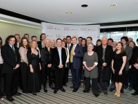 Taoiseach Enda Kenny, CEO of Culture Ireland, Eugene Downes and Imagine Ireland artists.