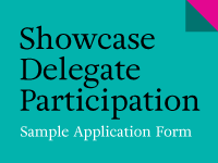 Sample showcase delegate application form