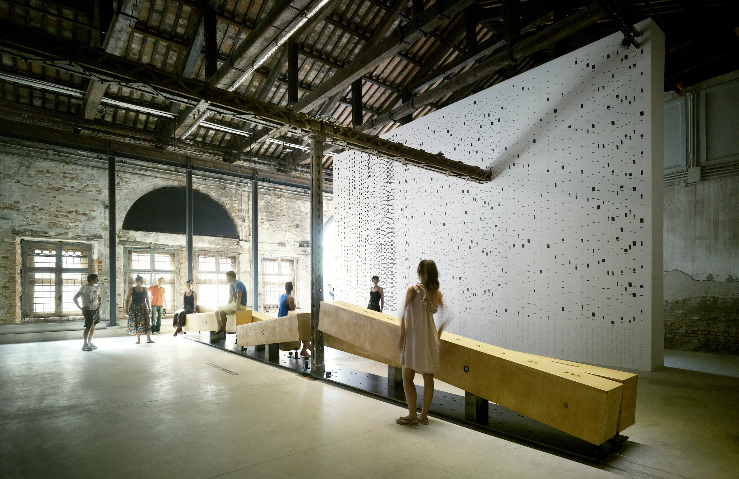 ground by irish architects heneghan peng at la biennale di venezia